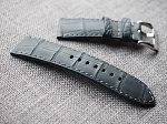 Custom order Matte Black Grade A alligator strap